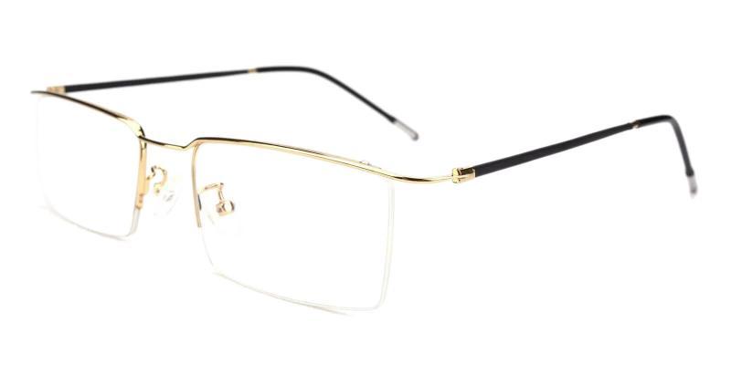 Gold Wit - Metal Eyeglasses , NosePads