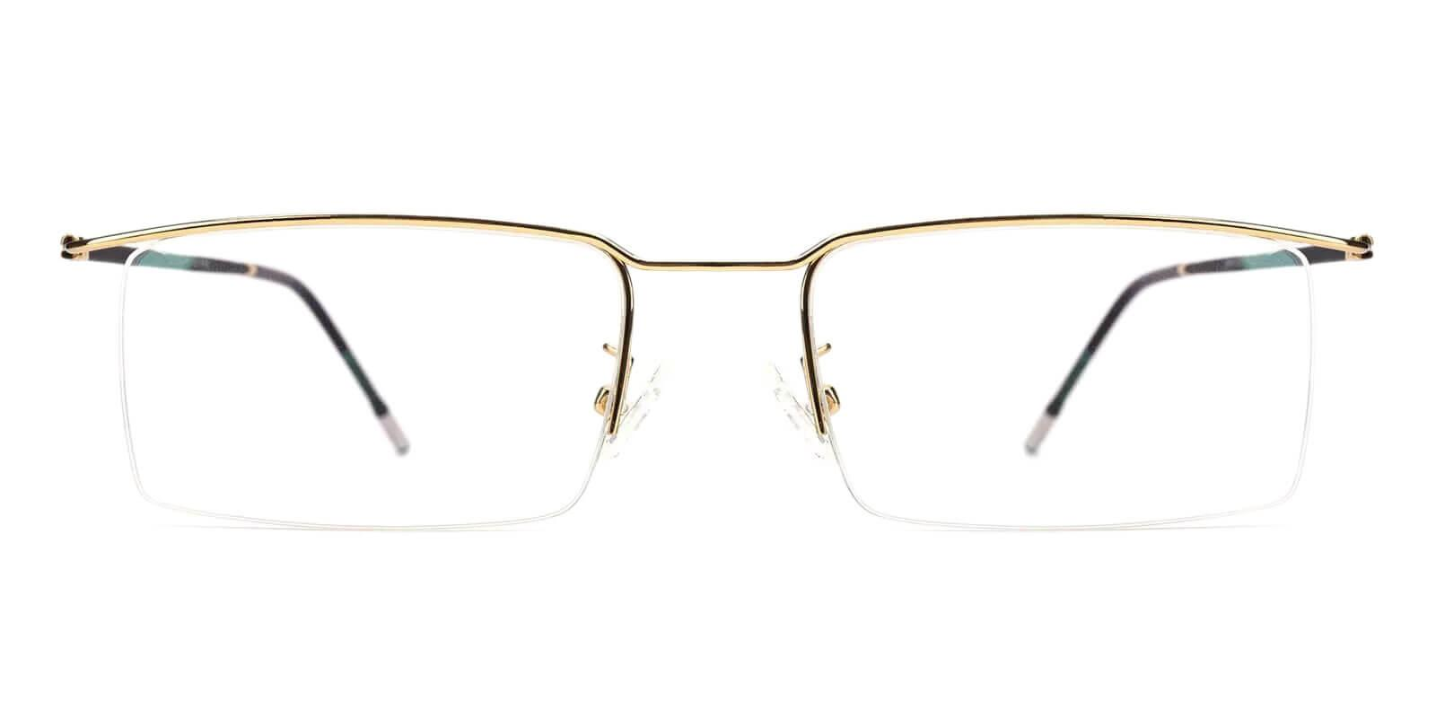 Wit Gold Metal Eyeglasses , NosePads Frames from ABBE Glasses
