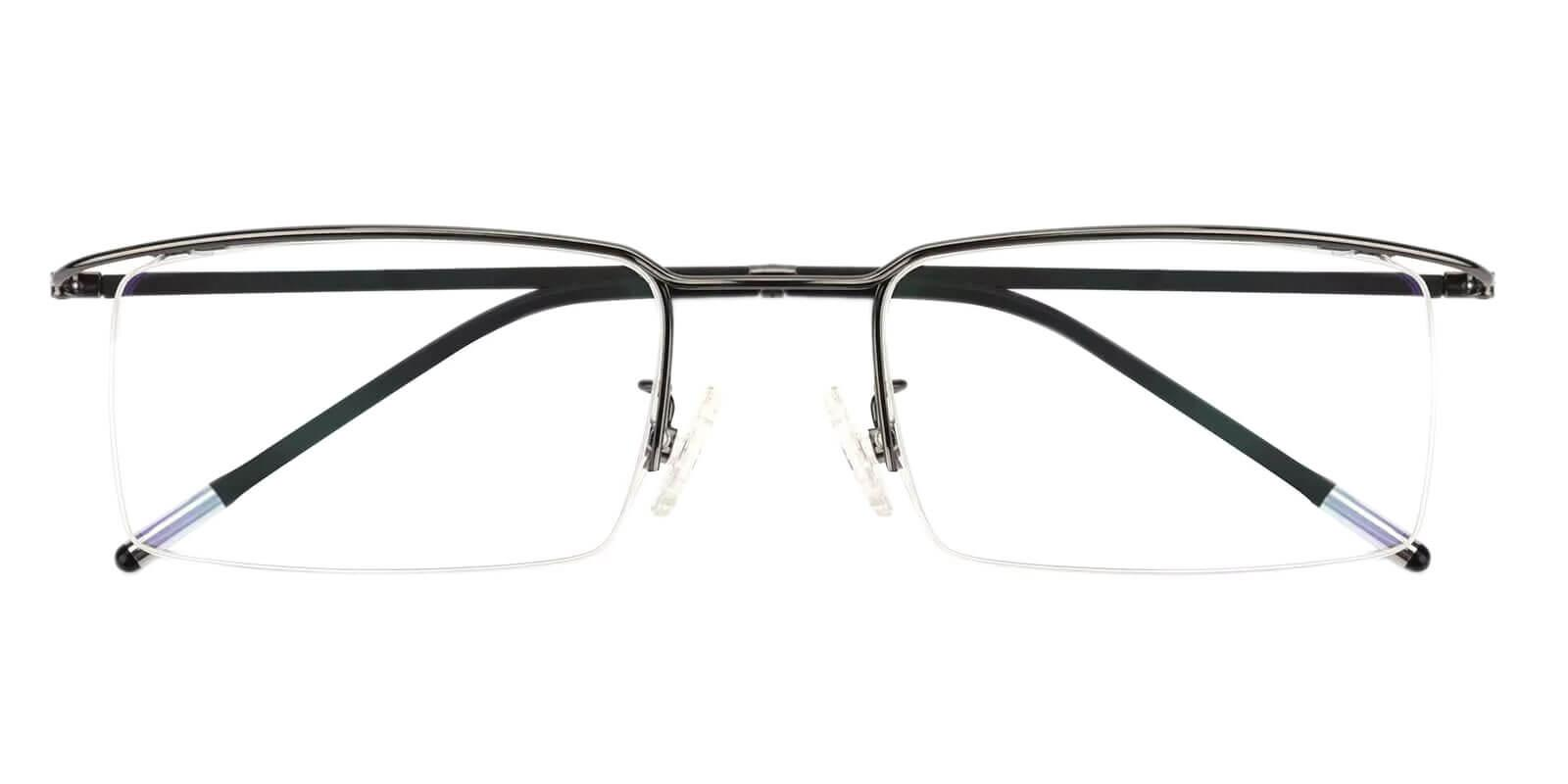 Wit Gun Metal Eyeglasses , NosePads Frames from ABBE Glasses
