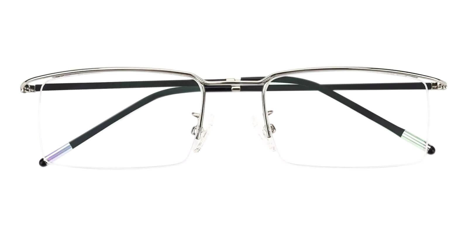 Wit Silver Metal Eyeglasses , NosePads Frames from ABBE Glasses