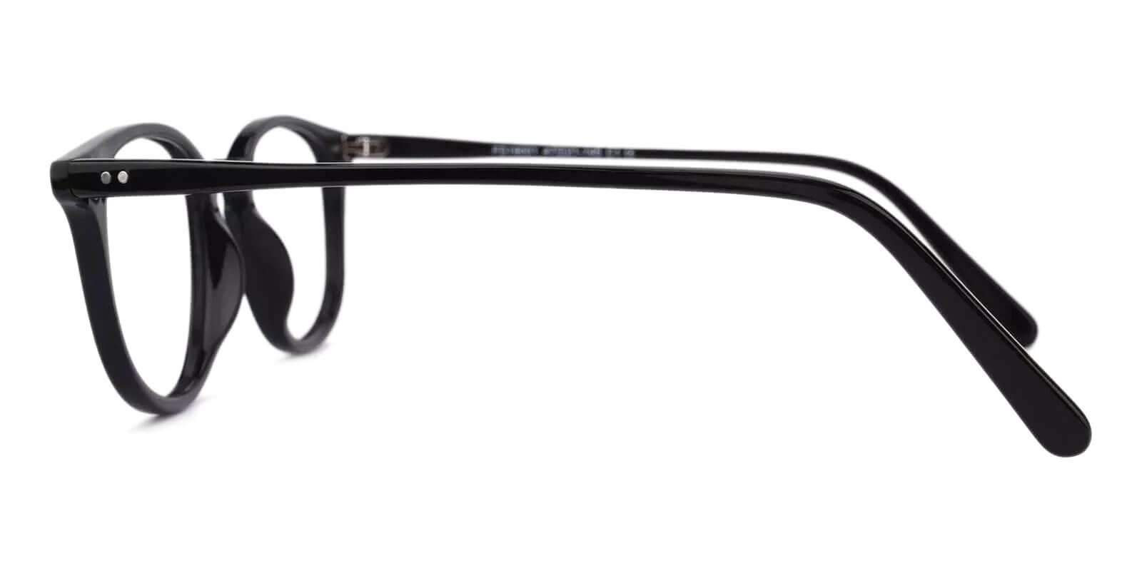 Venus Black Acetate Eyeglasses , UniversalBridgeFit Frames from ABBE Glasses