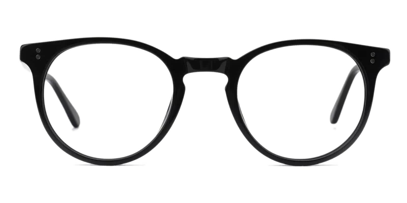 Mercury Black Acetate Eyeglasses , UniversalBridgeFit Frames from ABBE Glasses