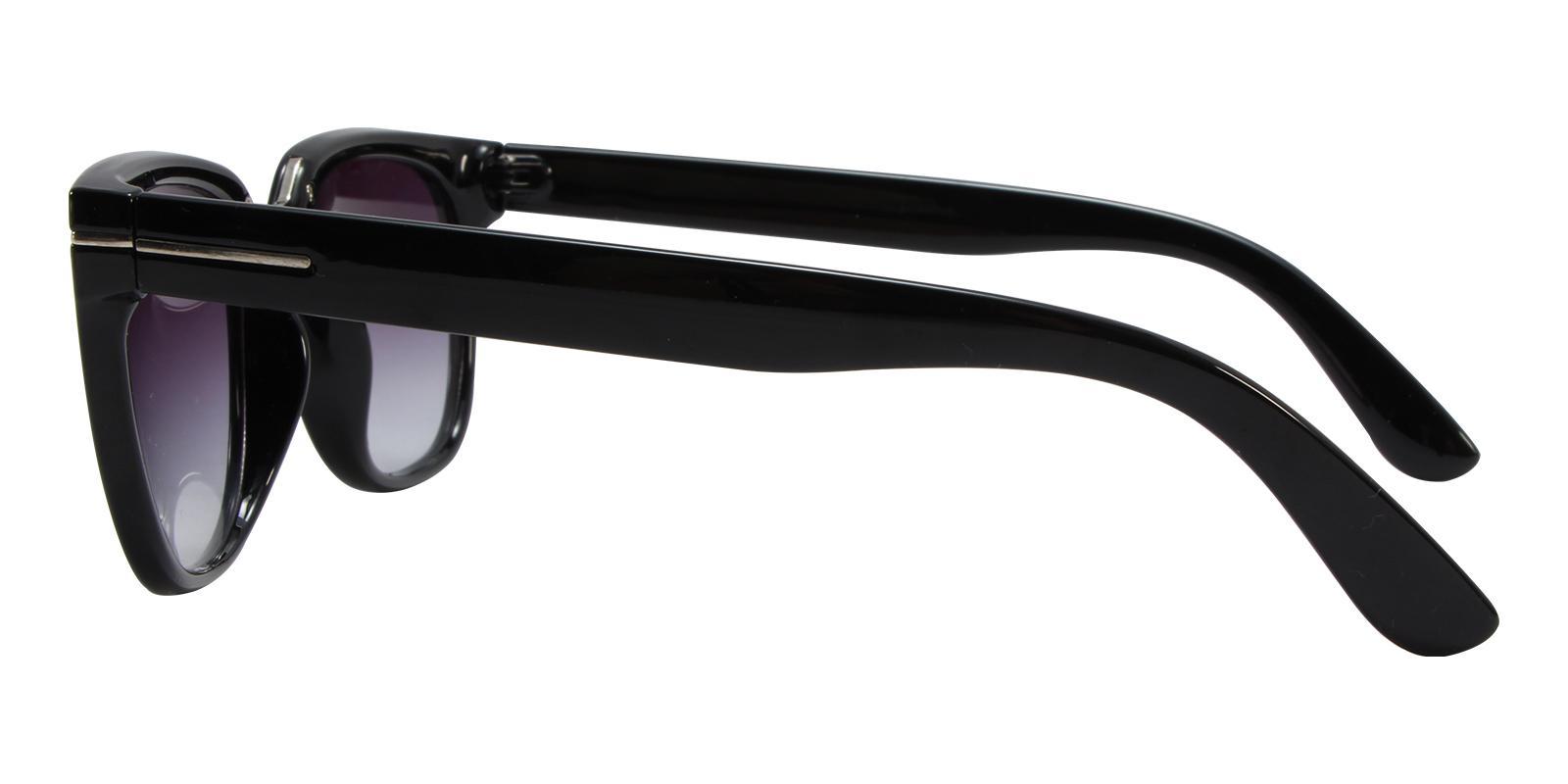 Mars Black Acetate Sunglasses , UniversalBridgeFit Frames from ABBE Glasses