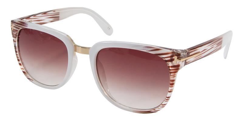 Striped Mars - Acetate Sunglasses , UniversalBridgeFit