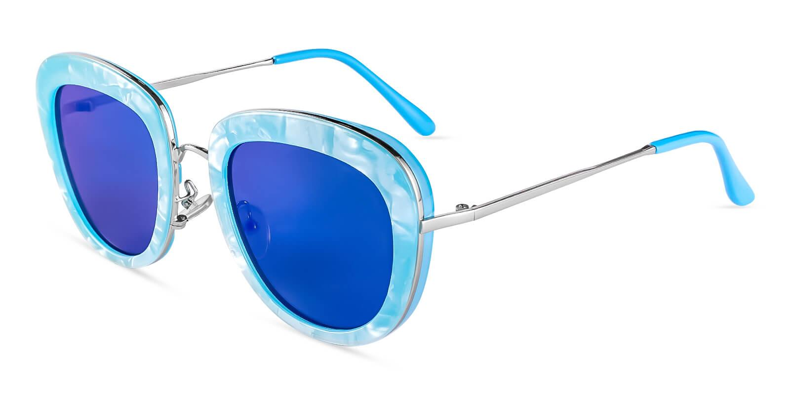Jupiter Blue  NosePads , Sunglasses Frames from ABBE Glasses