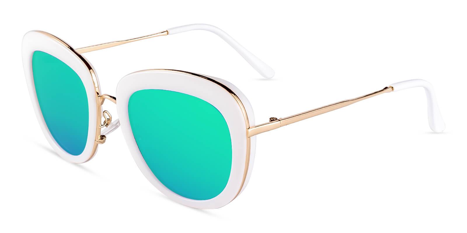 Jupiter White  NosePads , Sunglasses Frames from ABBE Glasses