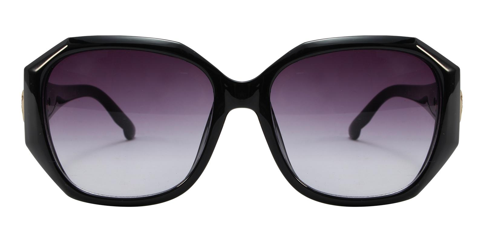 Saturn Black Acetate Sunglasses , UniversalBridgeFit Frames from ABBE Glasses