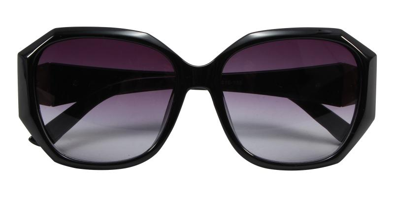 Black Saturn - Acetate Sunglasses , UniversalBridgeFit