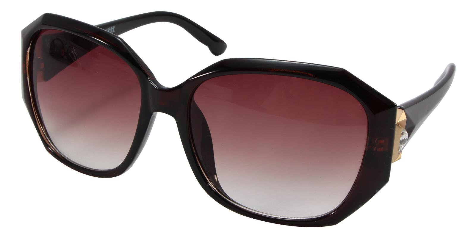 Saturn Brown Acetate Sunglasses , UniversalBridgeFit Frames from ABBE Glasses