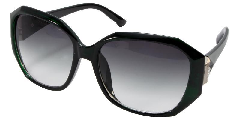 Green Saturn - Acetate Sunglasses , UniversalBridgeFit