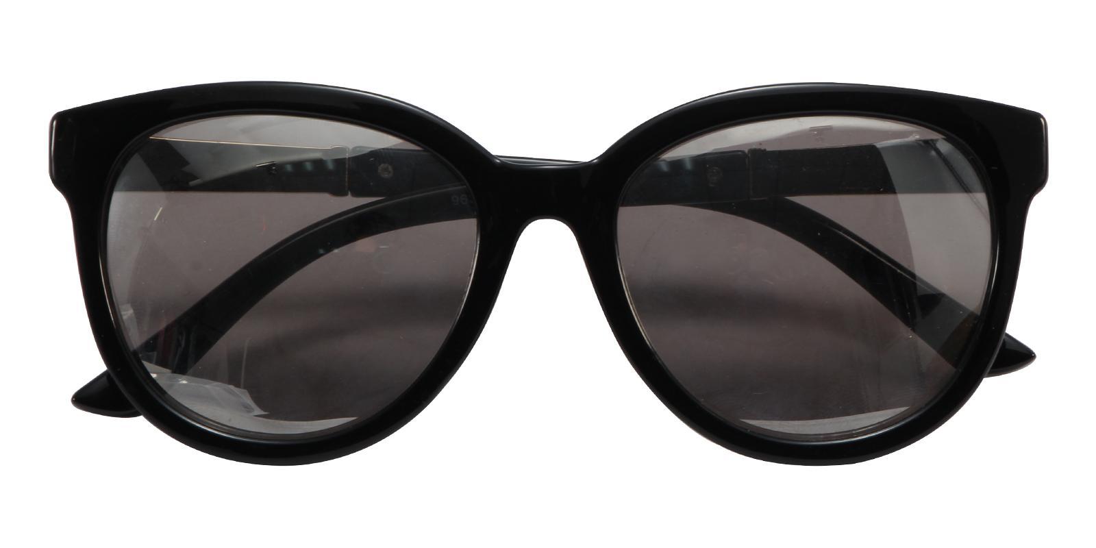 Bay Black Acetate Sunglasses , UniversalBridgeFit Frames from ABBE Glasses