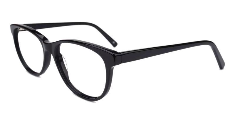 Black Neptune - Acetate Eyeglasses , SpringHinges , UniversalBridgeFit