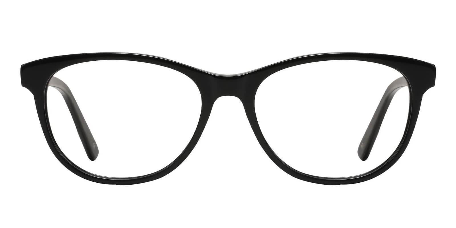 Neptune Black Acetate Eyeglasses , SpringHinges , UniversalBridgeFit Frames from ABBE Glasses