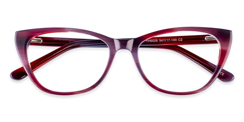 Red Tune - Acetate Eyeglasses , SpringHinges , UniversalBridgeFit
