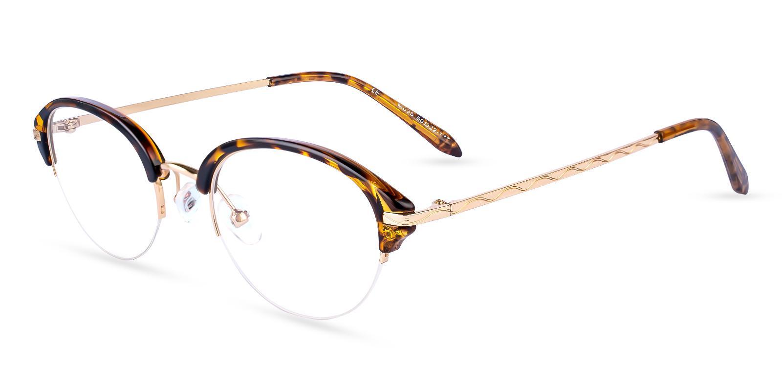 Solar Brown Metal , TR Eyeglasses , NosePads Frames from ABBE Glasses