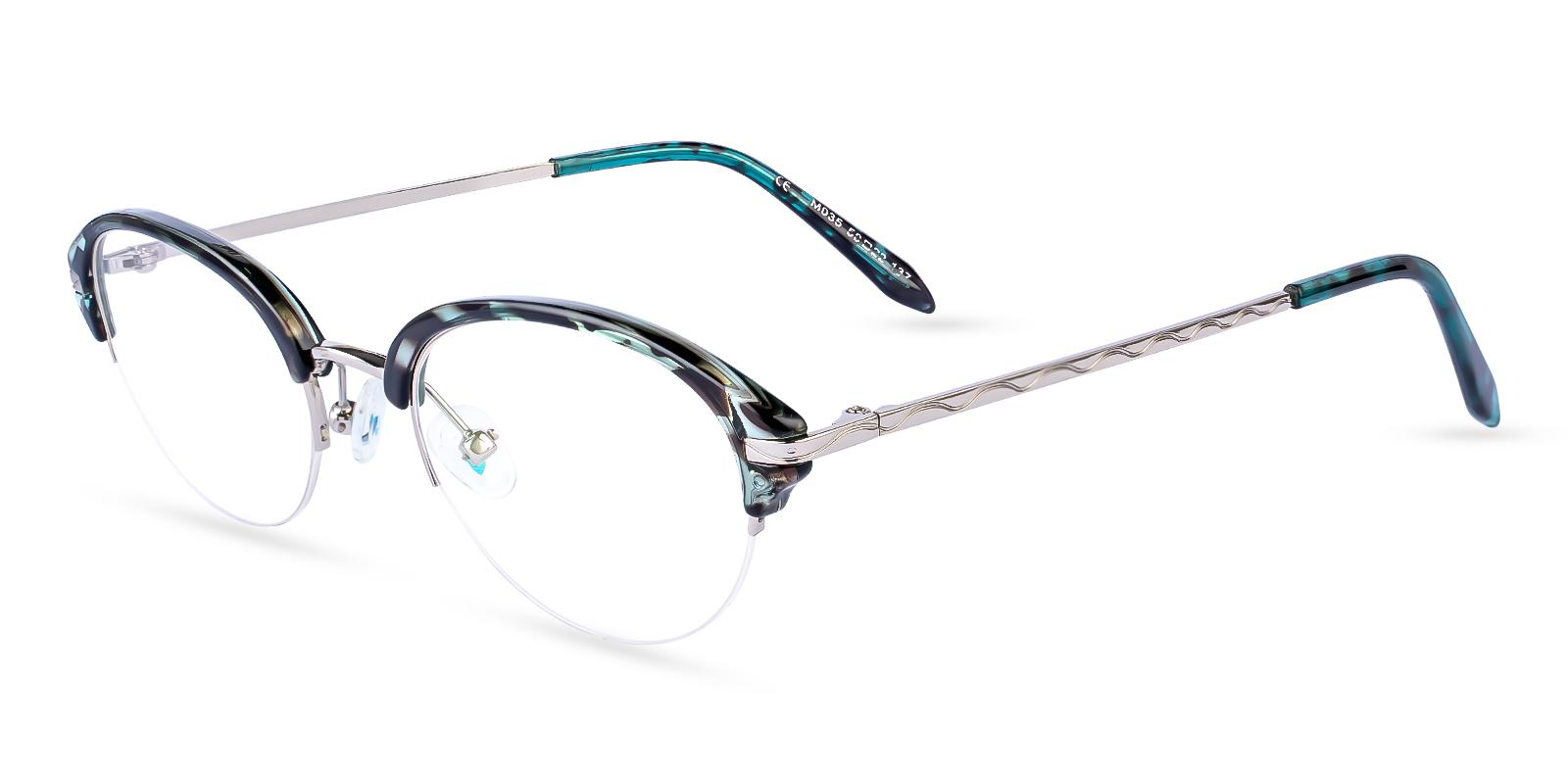 Solar Green Metal , TR Eyeglasses , NosePads Frames from ABBE Glasses