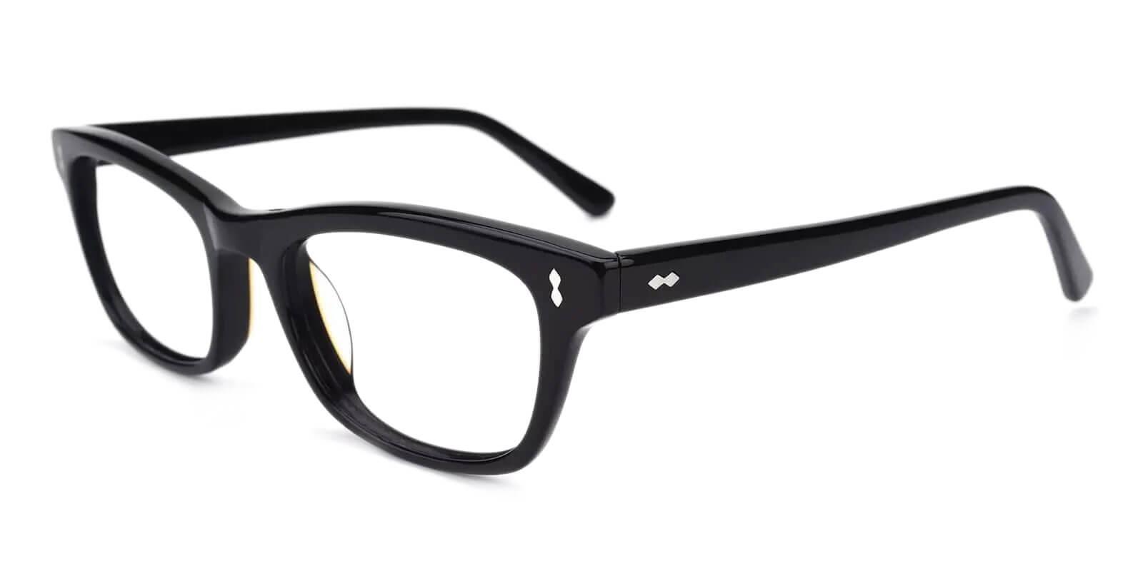 Leaf Black Acetate Eyeglasses , UniversalBridgeFit Frames from ABBE Glasses