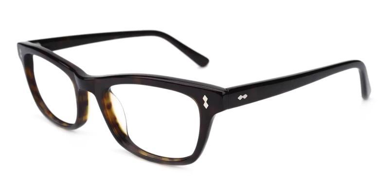 Pattern Leaf - Acetate Eyeglasses , UniversalBridgeFit