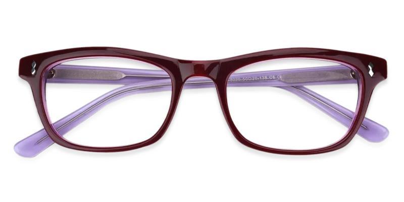 Purple Leaf - Acetate Eyeglasses , UniversalBridgeFit