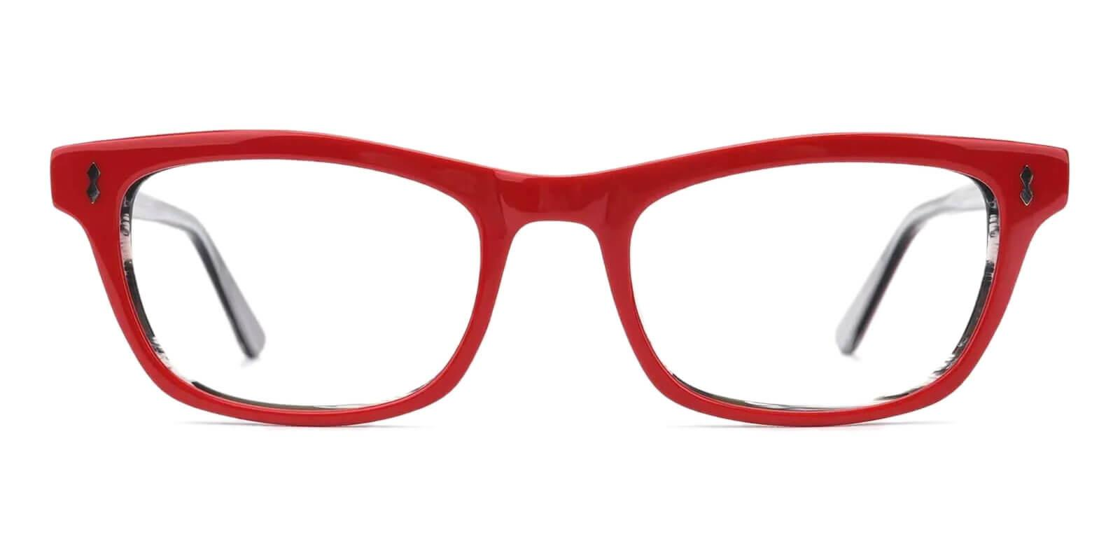 Leaf Red Acetate Eyeglasses , UniversalBridgeFit Frames from ABBE Glasses