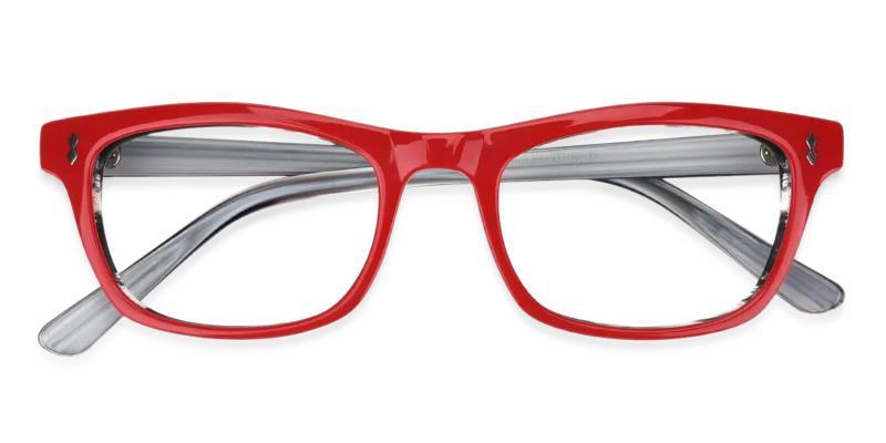 Red Leaf - Acetate Eyeglasses , UniversalBridgeFit