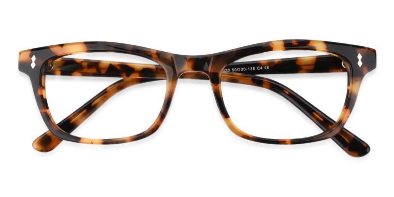 Tortoise Leaf - Acetate Eyeglasses , UniversalBridgeFit