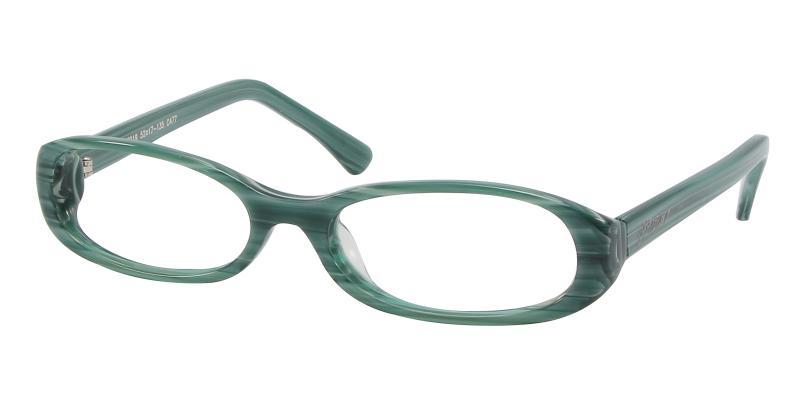Green Greenery - Acetate Eyeglasses , UniversalBridgeFit