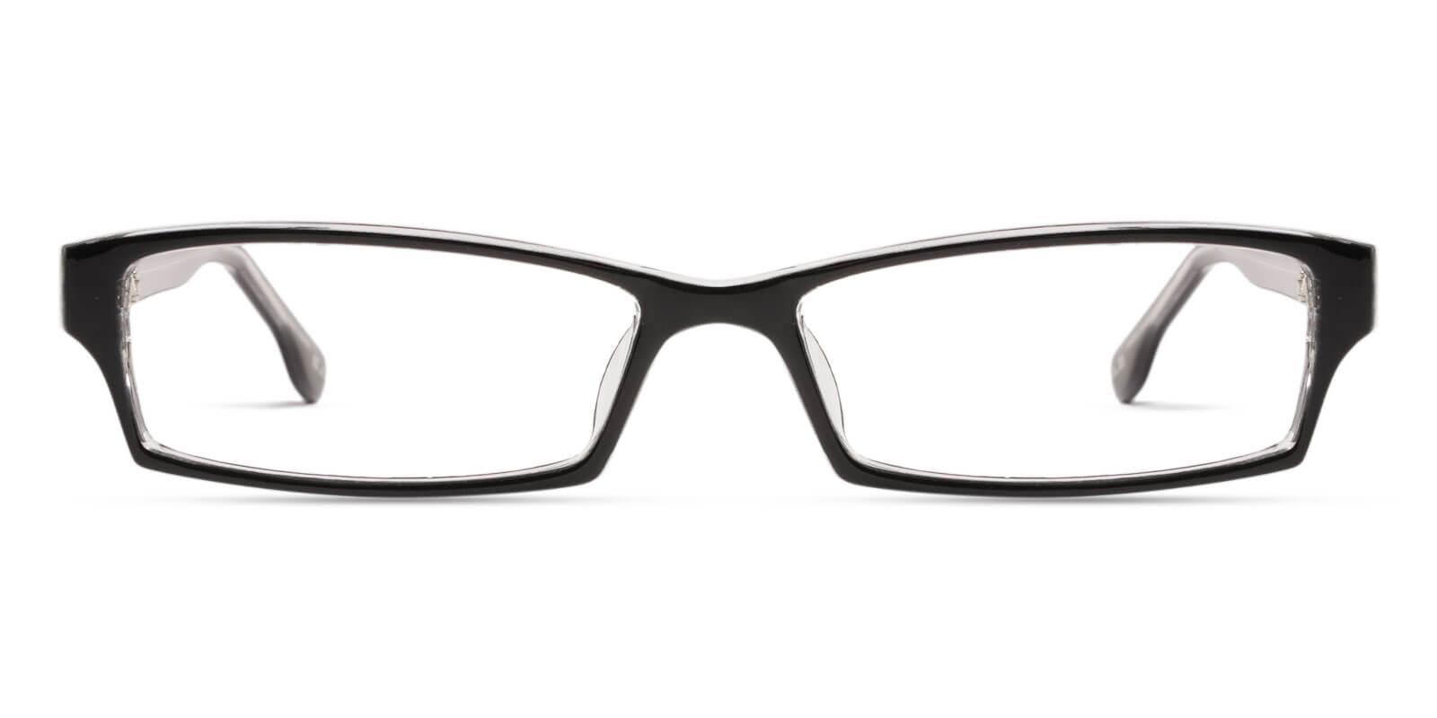 Ebony Black Plastic Eyeglasses , UniversalBridgeFit Frames from ABBE Glasses