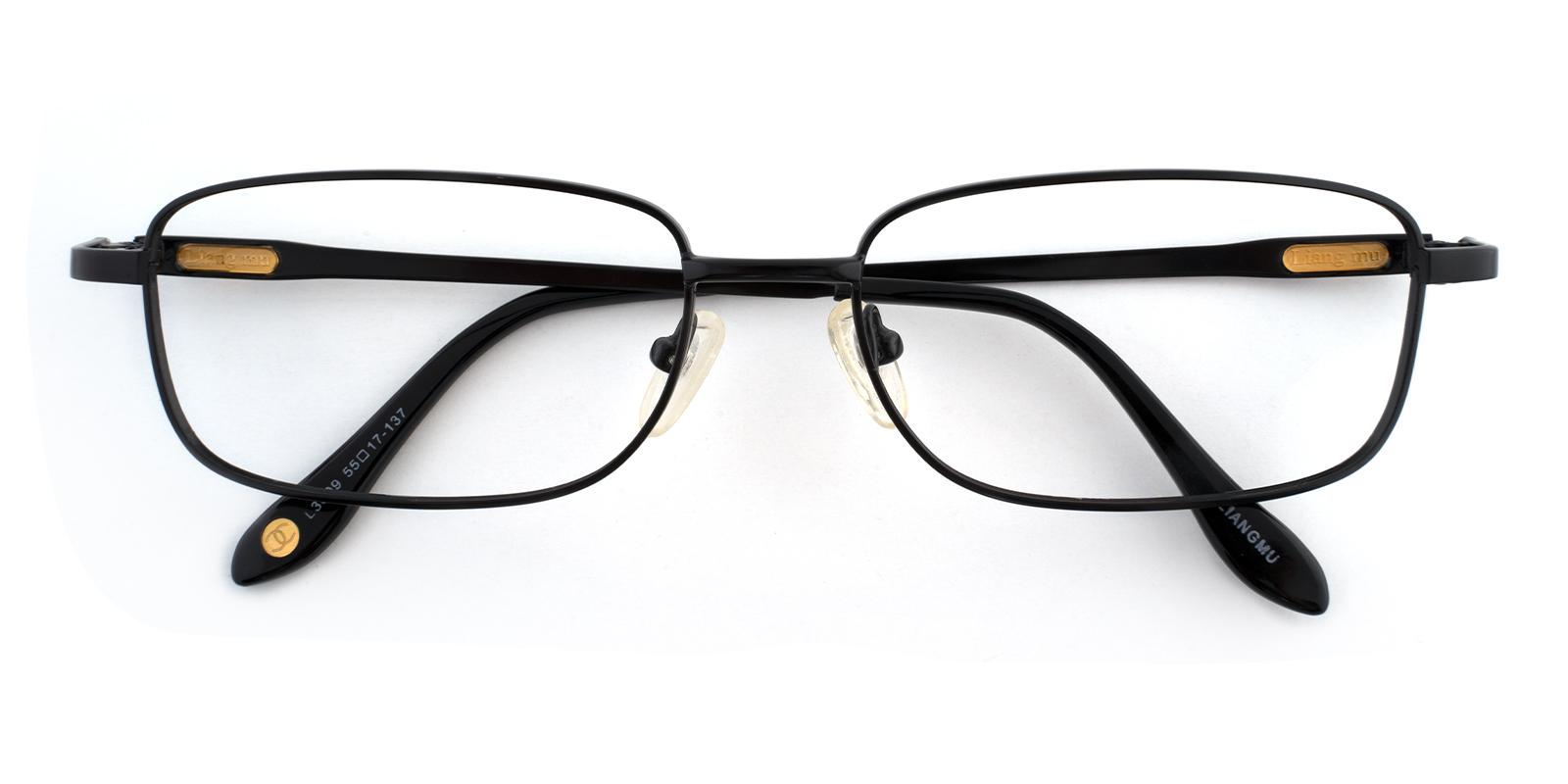 Aureate Black Metal Eyeglasses , NosePads Frames from ABBE Glasses