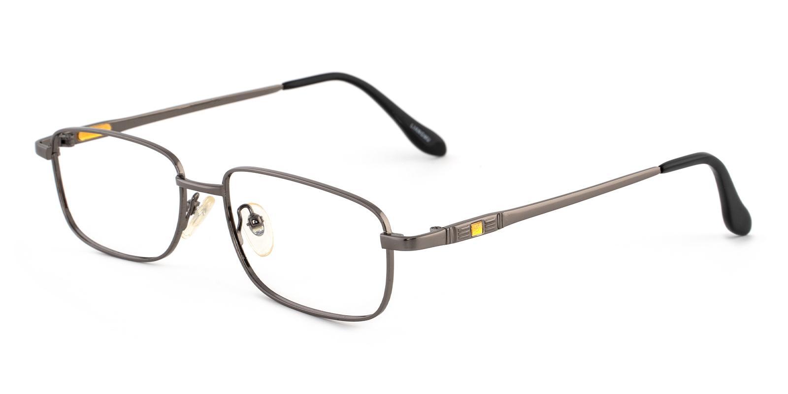 Aureate Gun Metal Eyeglasses , NosePads Frames from ABBE Glasses