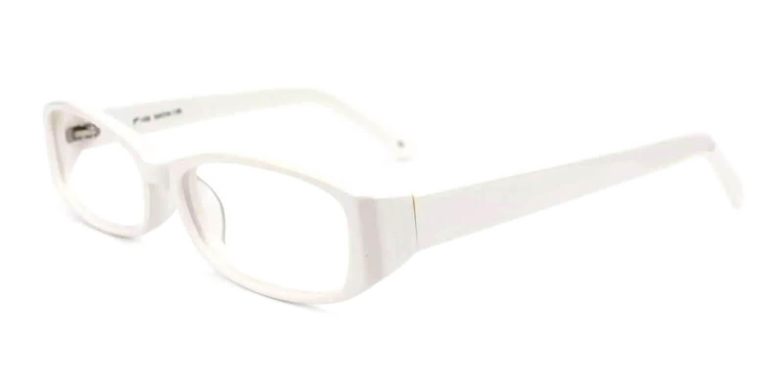 Canyon White Acetate Eyeglasses , UniversalBridgeFit Frames from ABBE Glasses