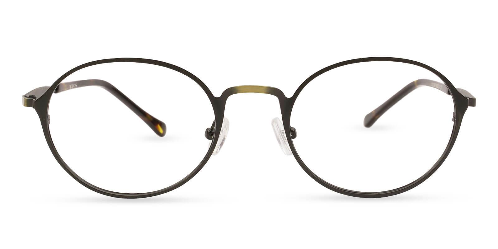 Toughery Brown Metal Eyeglasses , NosePads Frames from ABBE Glasses