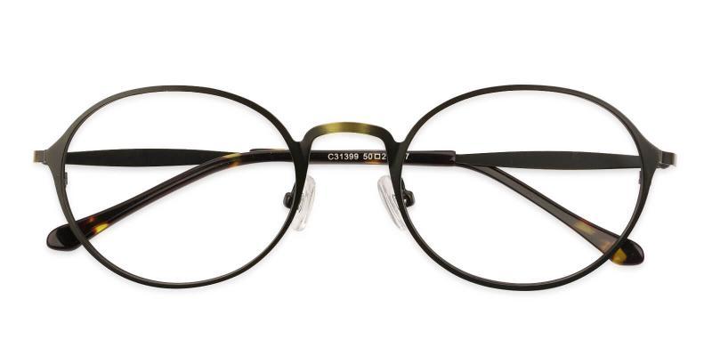 Brown Toughery - Metal NosePads , Eyeglasses