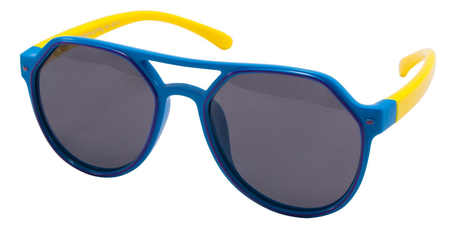 Pilot Blue TR Sunglasses , UniversalBridgeFit Frames from ABBE Glasses
