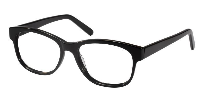 Black Doubell - Acetate Eyeglasses , UniversalBridgeFit