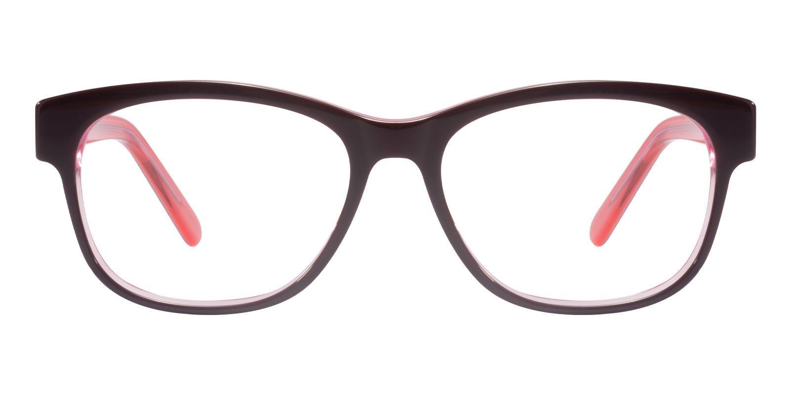 Doubell Red Acetate Eyeglasses , UniversalBridgeFit Frames from ABBE Glasses