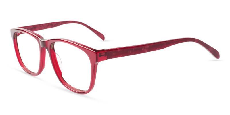 Red Abover - Acetate Eyeglasses , UniversalBridgeFit