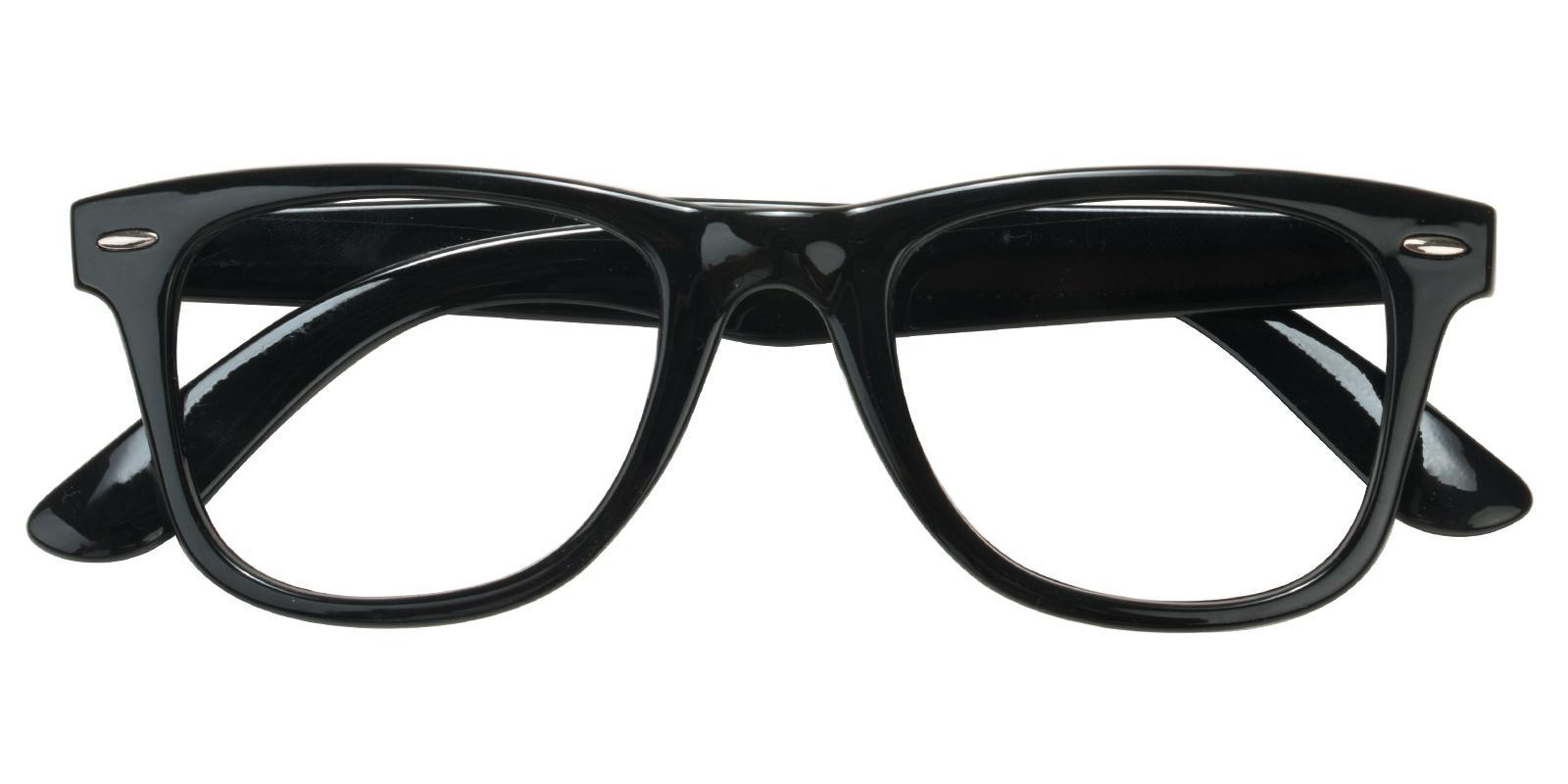 Smither Black Plastic Eyeglasses , UniversalBridgeFit Frames from ABBE Glasses