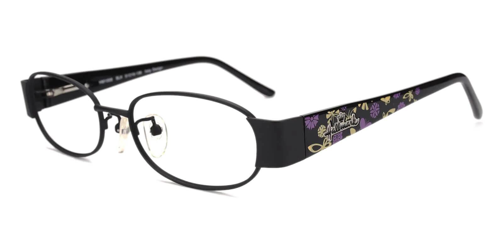 Alps Black Metal Eyeglasses , NosePads Frames from ABBE Glasses