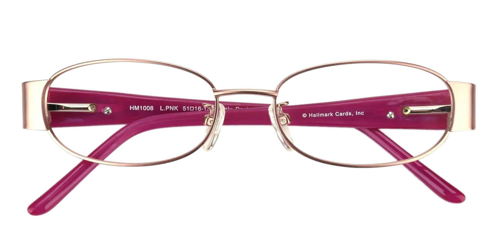 Alps Pink Metal Eyeglasses , NosePads Frames from ABBE Glasses