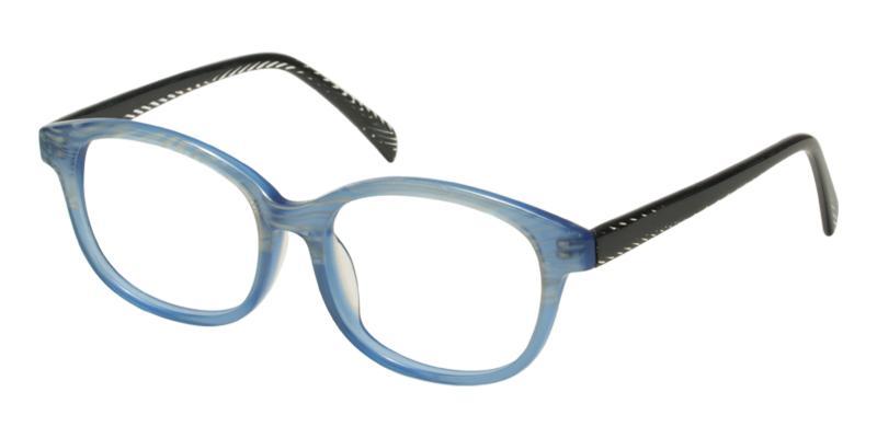 Blue Plumer - Acetate Eyeglasses , UniversalBridgeFit