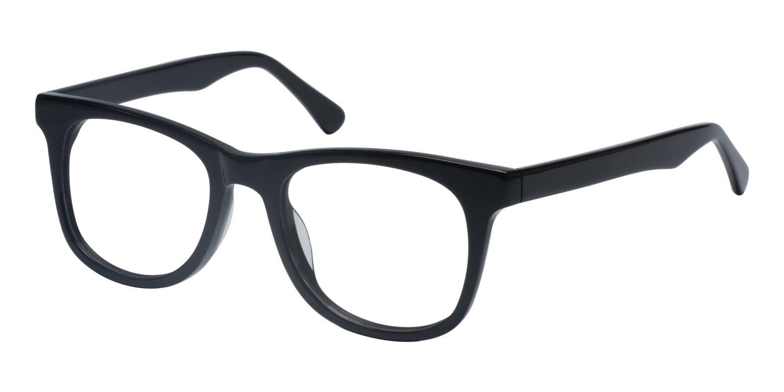 Standie Black Acetate Eyeglasses , UniversalBridgeFit Frames from ABBE Glasses