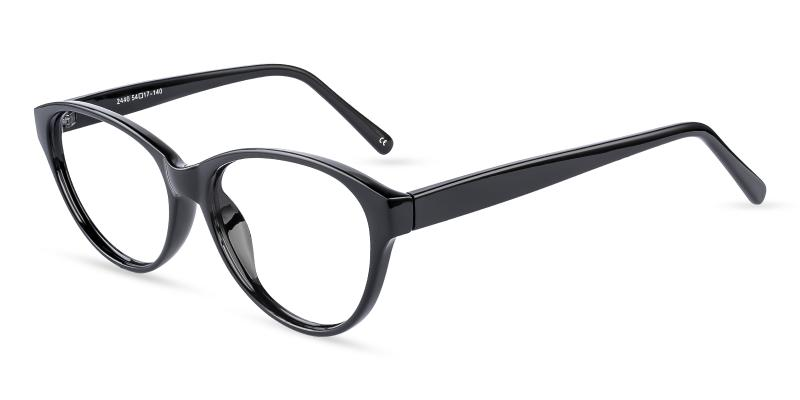 Black Flame - Plastic Eyeglasses , UniversalBridgeFit