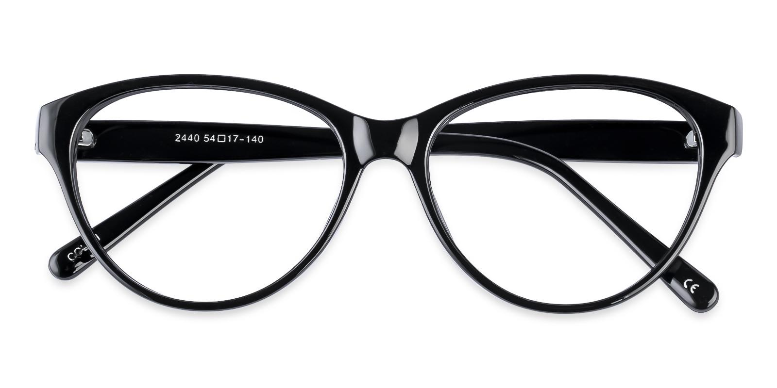 Flame Black Plastic Eyeglasses , UniversalBridgeFit Frames from ABBE Glasses