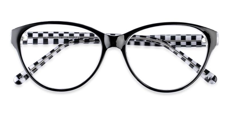 Pattern Flame - Plastic Eyeglasses , UniversalBridgeFit