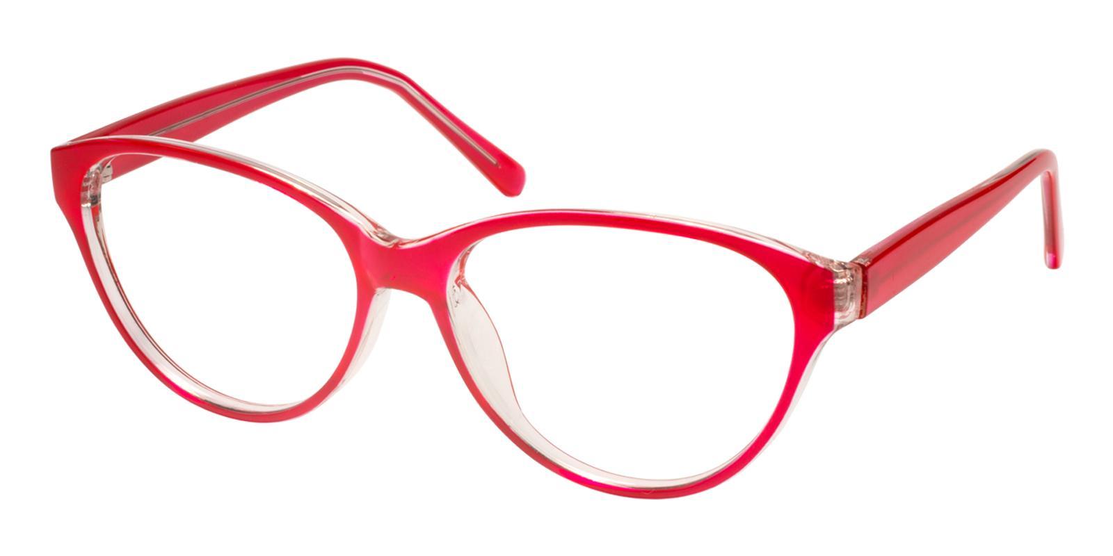 Flame Red Plastic Eyeglasses , UniversalBridgeFit Frames from ABBE Glasses