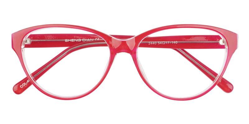 Red Flame - Plastic Eyeglasses , UniversalBridgeFit
