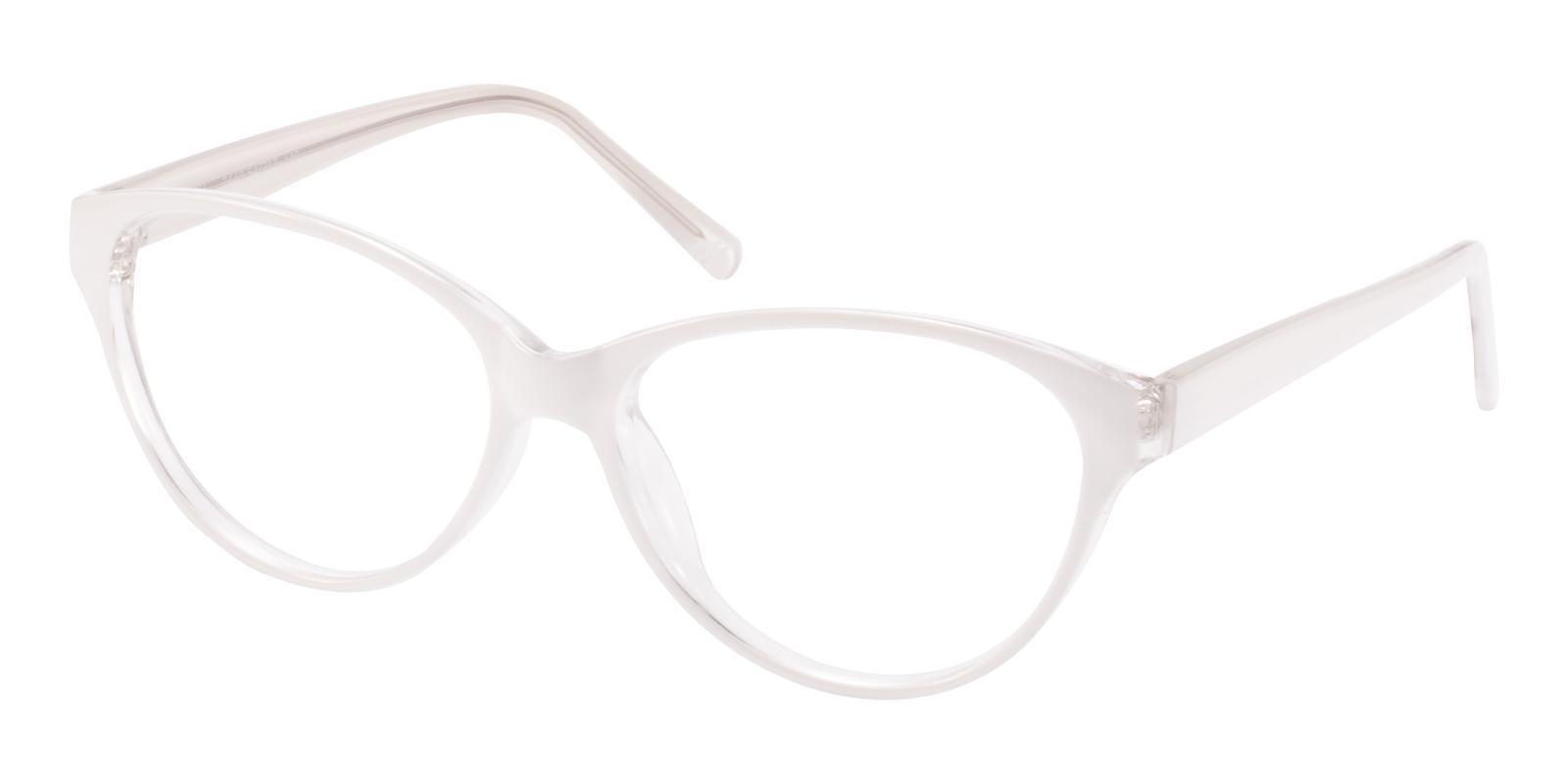 Flame White Plastic Eyeglasses , UniversalBridgeFit Frames from ABBE Glasses