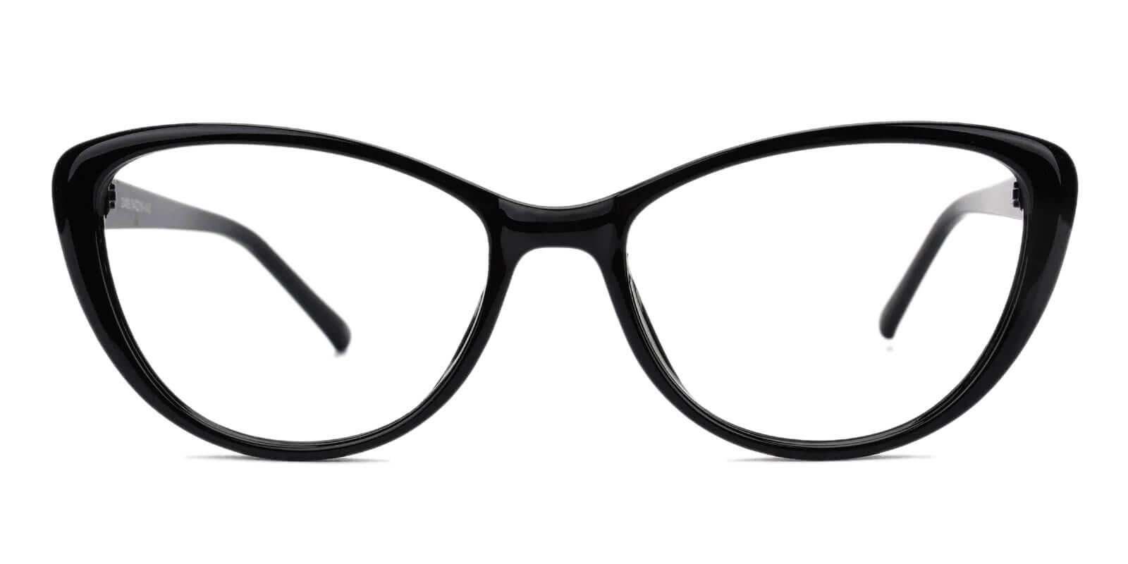 Olga Black Plastic Eyeglasses Frames from ABBE Glasses