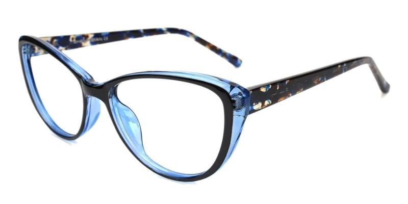 Blue Olga - Plastic Eyeglasses